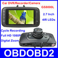 Full HD 1080P Car Recorder 100% Original GS8000L Novatek Car Camera G-Sensor Night Version 140 Degree Wide Angle Lens Car DVR