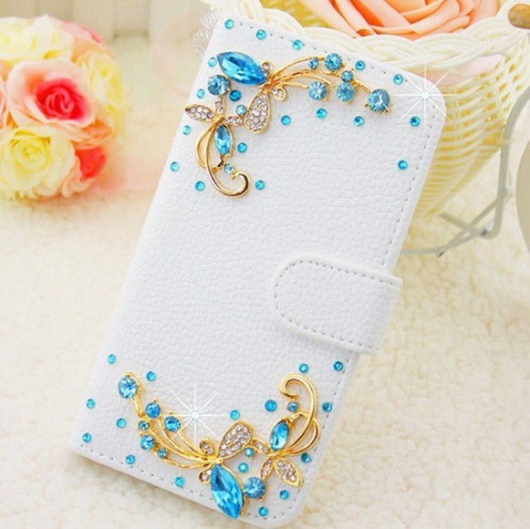 Bling Crystal Rose Wallet Leather Case for Samsung Galaxy Grand Duos i9082 GT-i9082 i9080 GT-i9080 Neo i9060 Plus i9060i  i9062