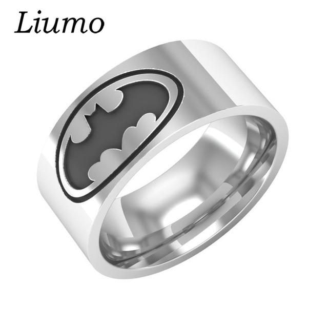 Liumo Batman 316L Stainless Steel Men Biker Ring Lr281in Rings from