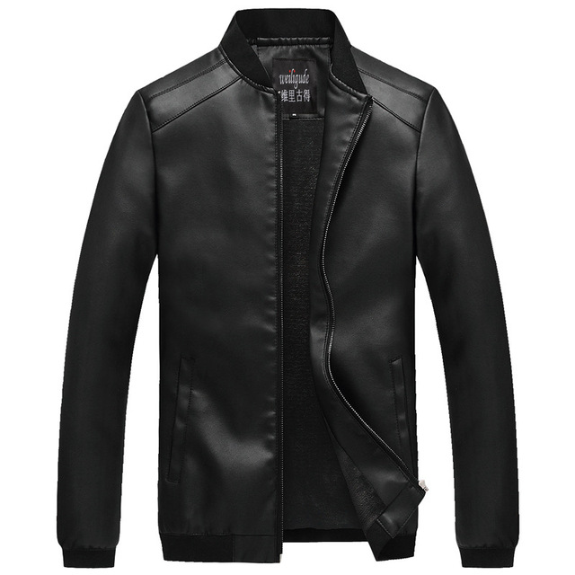 2016 Autumn and winter men's plus velvet PU leather jacket men Casual Slim Fit collar Motorcycle leather jacket coats