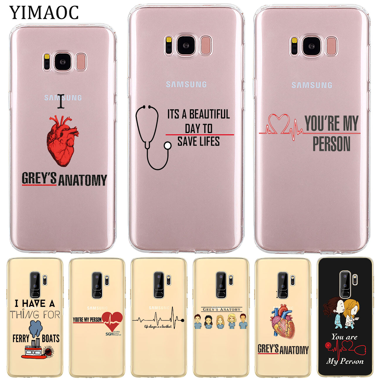 Industrious Yimaoc Greys Grey Is Anatomy Tv Soft Silicone Tpu Phone Case For Samsung Galaxy S10e S10 S9 S8 Plus S7 Edge Transparent Cover Harmonious Colors Fitted Cases