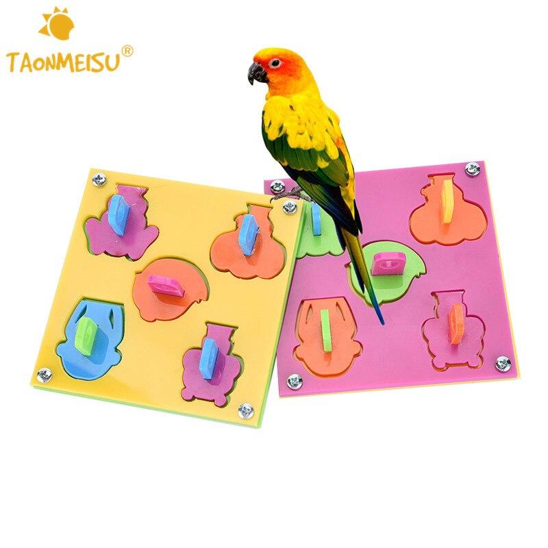 ᑐTaonmeisu mascota de madera Aves puzzle formación Juguetes ...