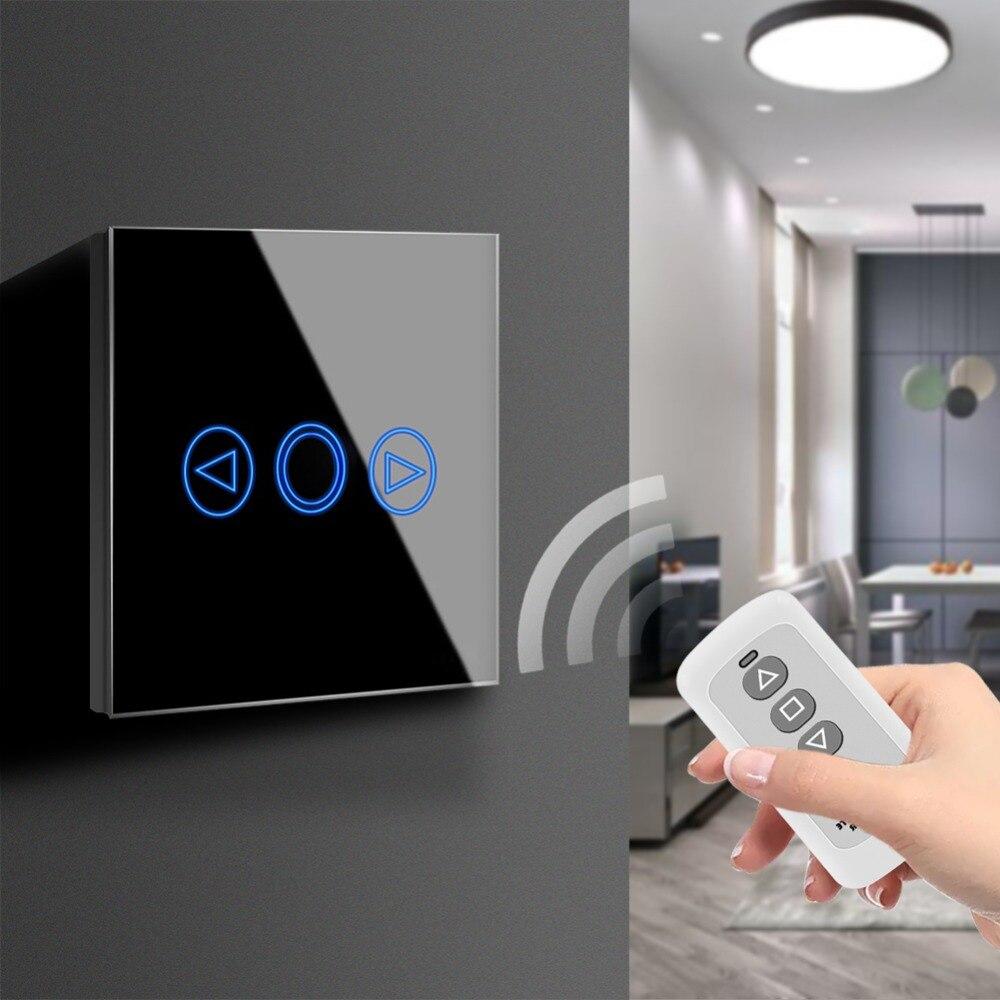 Écran tactile Capteur LED Interrupteur de lumière 220 v LED Gradateur Étanche UE ROYAUME-UNI Standard Puissance Mur Tactile Interrupteur Avec RF télécommande