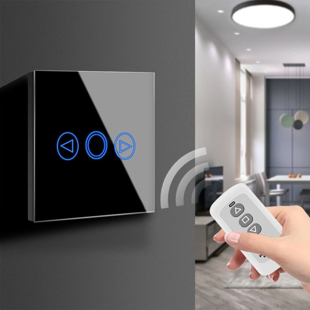 Touchscreen Sensor LED licht Schalter 220 v LED Dimmer Wasserdichte EU UK Standard Power Wand Touch Schalter Mit RF fernbedienung