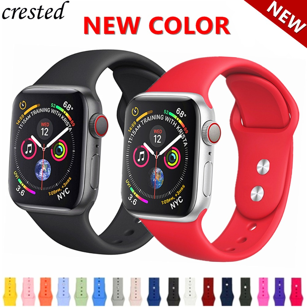 Silicone strap for Apple Watch 4 band 44mm 40mm iWatch band 42mm 38mm Sport bracelet Watchband for Apple watch 3 2 1 42/38 mm 44Silicone strap for Apple Watch 4 band 44mm 40mm iWatch band 42mm 38mm Sport bracelet Watchband for Apple watch 3 2 1 42/38 mm 44