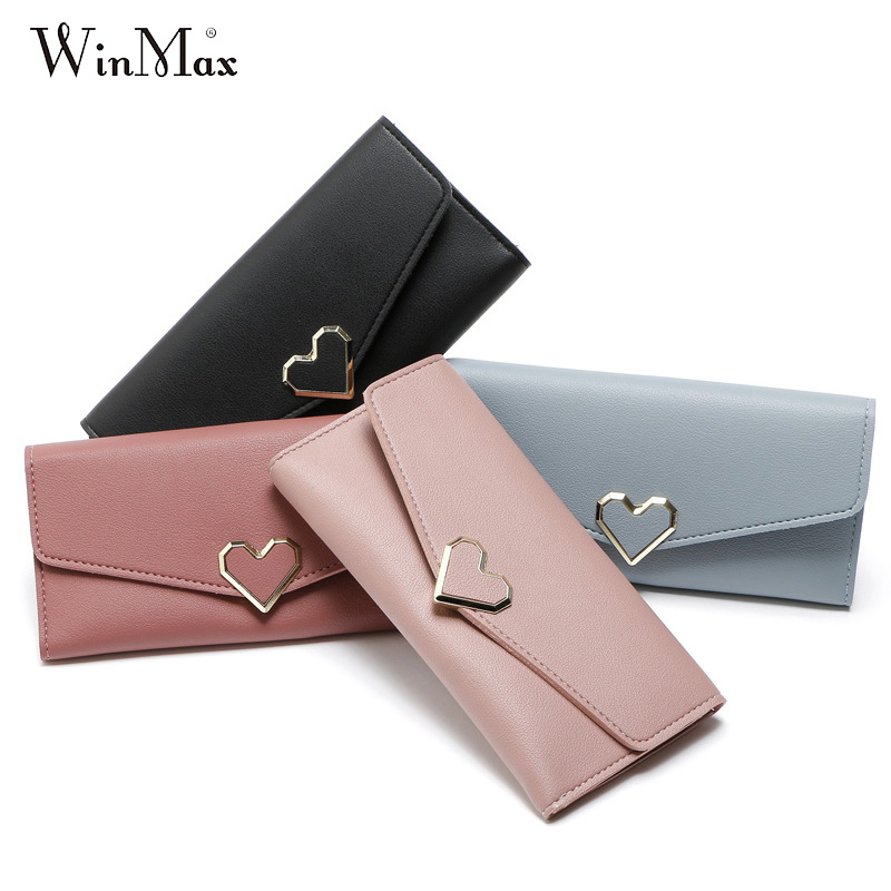 Winmax Women Wallets long Lady Clutch Female Fashion Leather Bag ID Card Holder Cell Phone Cash pouch Ladies coin purses portfel butterfly pu leather pouch bag for cell phone gadgets orange