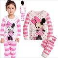 2016 Новый Год Девушки Микки Пижамы Костюм Для 2-7лет Детей Ночная Рубашка Пижамы Детей Hello Kitty Минни Рождественские Pijamas