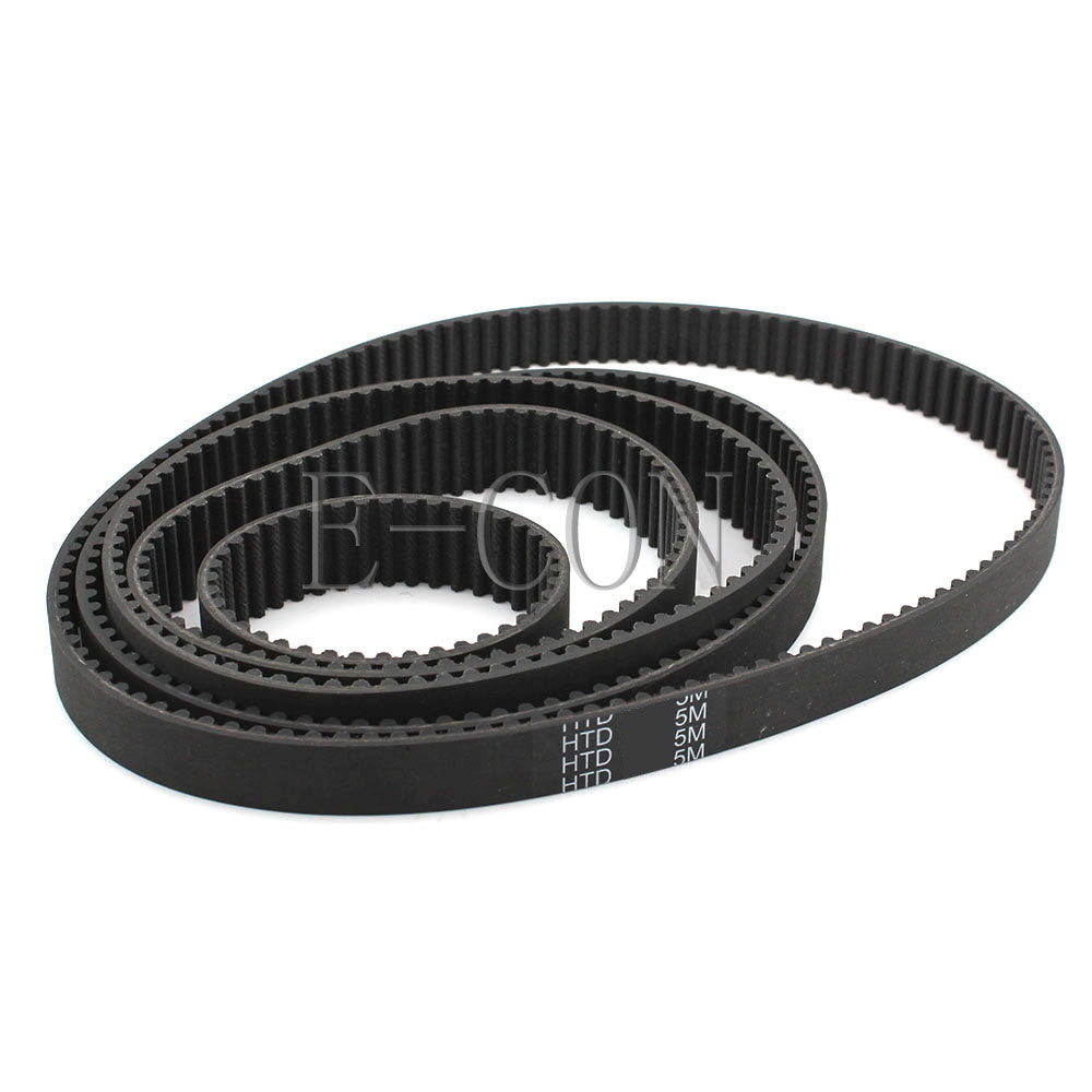 1pcs HTD5M Timing Belt Belt Cogged Rubber Geared Closed Loop 15/20/25mm Wide 750-795mm Internal Perimeter title=
