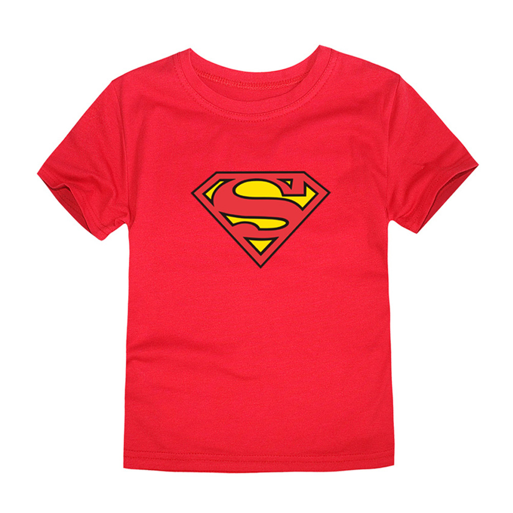 HTB13Y9vQVXXXXXMXFXXq6xXFXXXg - TINOLULING 2018 Kids Superman T-Shirt Boys Girls Batman T Shirt Children Tops Baby Tees For 2-14 Years