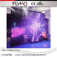 Highest definition Pixel 50mm stage cloth decorated musical activity occasion lighting curtain 3x3m