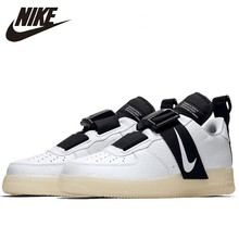 Nike Air Force1 Utility QS New Arrival Men Skateboarding Shoes Original Air Cushion Shock-Absorbant Sneakers #AV6247-100 стоимость