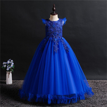 Fancy Princess Party Dresses for Girls Long Sleeveless Flower Party Ball Gown Evening Dresses Kid Prom Wedding Children Dress
