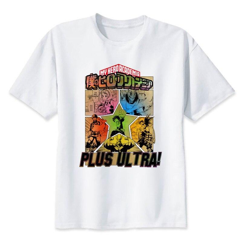 New Arrival My Hero Academia T Shirts Man Short Sleeve Clothing Boku No Hero Academia Funny Cartoon Print T-shirt For Man/woman 12