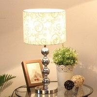 """מודרני 11 """"Chrome צילינדר מנורות שולחן ליד מיטת חדר שינה סלון גוון בדים ברזל מנורות שולחן מנורת שולחן חדר עבודה-במנורות שולחניות מתוך פנסים ותאורה באתר"""