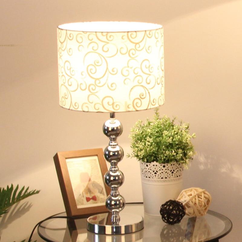 Modern 11 chrome bedroom bedside table lamps cylinder - Modern lamp shades for living room ...