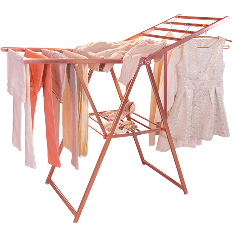 folding clothes garment drying hanging racks towel clothing laundry balcony rack space saver for indoor outdoor dq9009 1 2 3