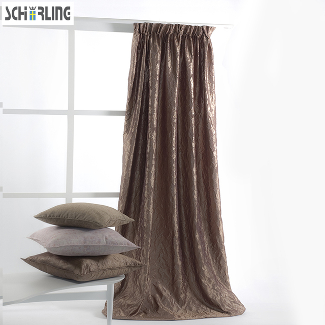 Hot Sales 100 Polyster Decoration Curtains For Window Daylight Crinkle Fabric Luxury Living Room Bedroom
