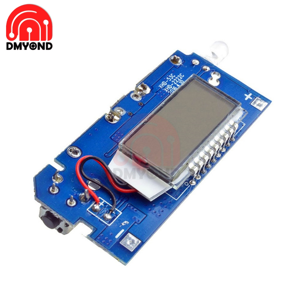 Dual USB 5V 1A 2.1A Mobile Power Bank 18650 Battery Charging Module Charge PCB Board for Phone LCD Display DIY KIT With Light
