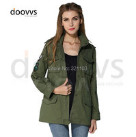 fashion slim army green jacket,short style and long style with cap clothing,spring beautiful jacket
