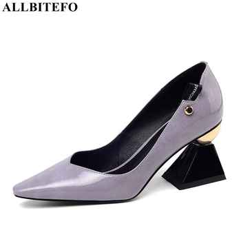 ALLBITEFO high quality brand high heels party women shoes spring women high heel shoes office ladies shoes women heels - DISCOUNT ITEM  45 OFF Shoes