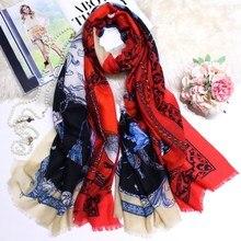 Pure Cashmere Scarf Women Winter Soft Warm Scarves Brand Design Female Shawls Wraps 200*100cm