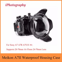 Meikon A7II A7R II 40M 130ft Underwater Housing Case For Sony A7 A7R A7S II w Dome Port Lens,Waterproof Bag Case For Sony A7 A7R