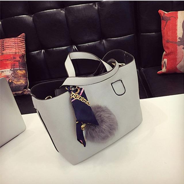 Soft PU Leather Casual Shoulder Handbags
