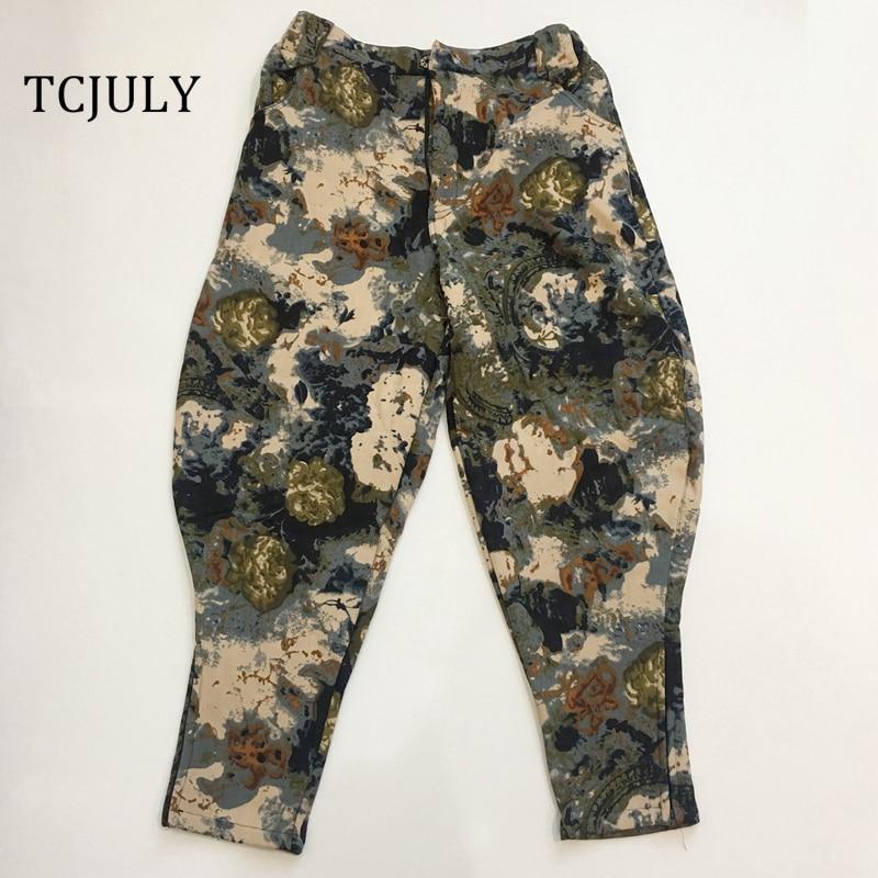 715e041ab4893 TCJULY 2018 Winter New Design Unique Fashion Cotton Linen Women Casual  Pants Plus Size Trousers Warmed Velvet Pants Ladies Pants-in Pants   Capris  from ...