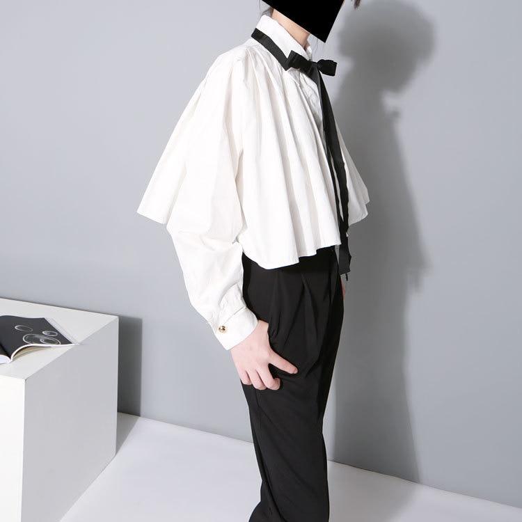 Cakucool Mujeres Sólido Casual Crop tops Blusa Loose Poncho Tops - Ropa de mujer - foto 2