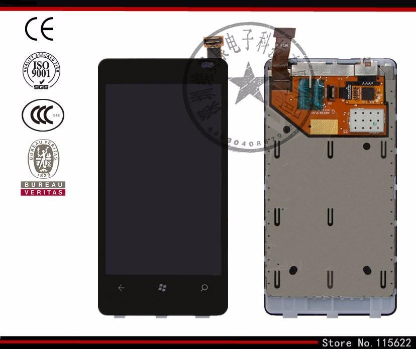 Pantalla lcd para nokia 800 lumia teléfono celular (negro, con pantalla táctil,
