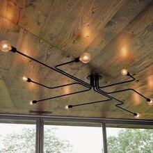 Para vestíbulo comedor restaurante el brazo de hierro Retro techo de loft industrial lámpara clásico negro moderno vintage luz de techo