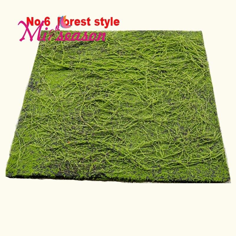 Forêt Style Mousse Artificielle Gazon Plante 1 M X 1 M Mousse Mur Décoration Herbe Paysage Maison Fleur Décoratif Simulation Plantes No 6
