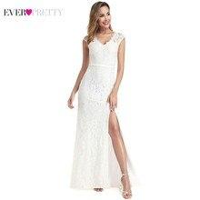 Vestidos De Novia Ever Pretty Wedding Dresses Side Split Zipper V-Neck Sexy Lace Formal Bride Gowns Little Mermaid 2019