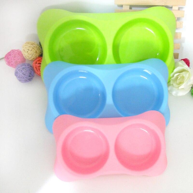 Moda 3 Colores Tazón Para Mascotas Perro Gato Perro de Agua Potable De Plástico