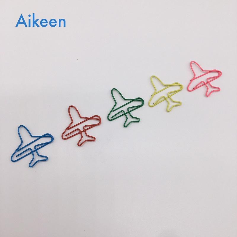 (10pcs To Sell) Creative New Airplane Metal Paper Clips, Cute Plane Clip, Office School Stationery Supplies