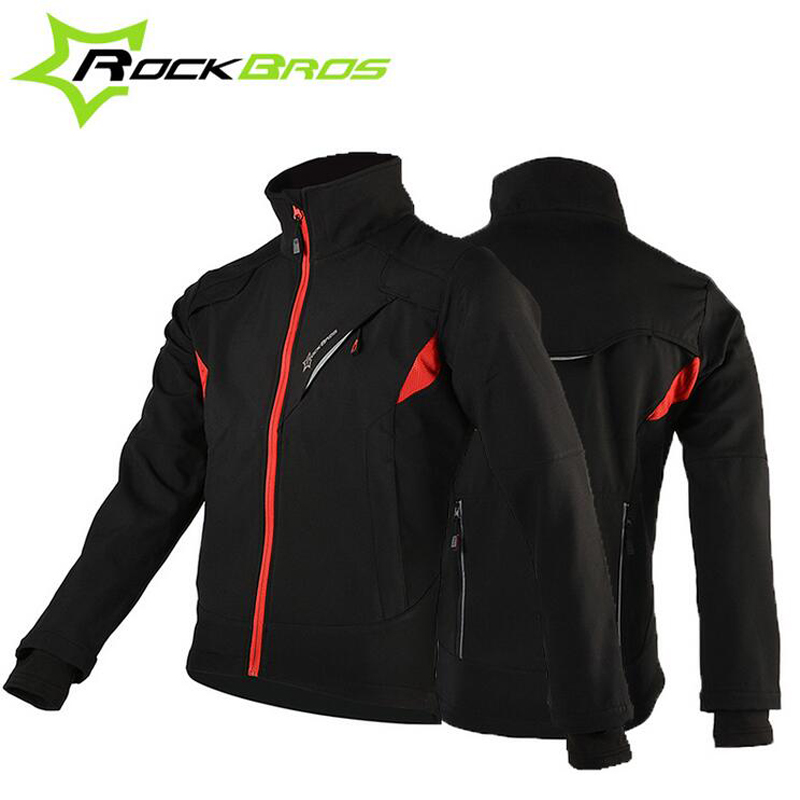 ROCKBROS Cycling Jersey Thermal Fleece Long Sleeve Cycling Clothing Windproof Warm Mountain Road Bicycle Bike Outer Wear H6020 black thermal fleece cycling clothing winter fleece long adequate quality cycling jersey bicycle clothing cc5081