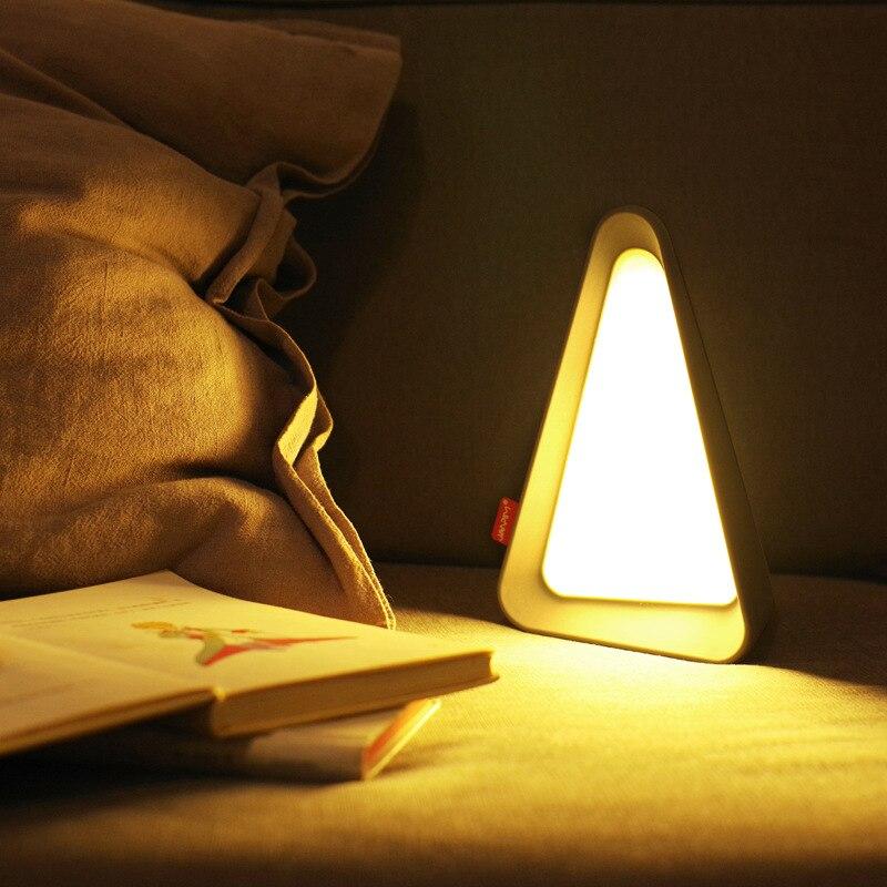 Creative Flip Light LED Table Lamp Flip Dimming Night Light USB  Rechargeable Bedside Desk Lamp Eye