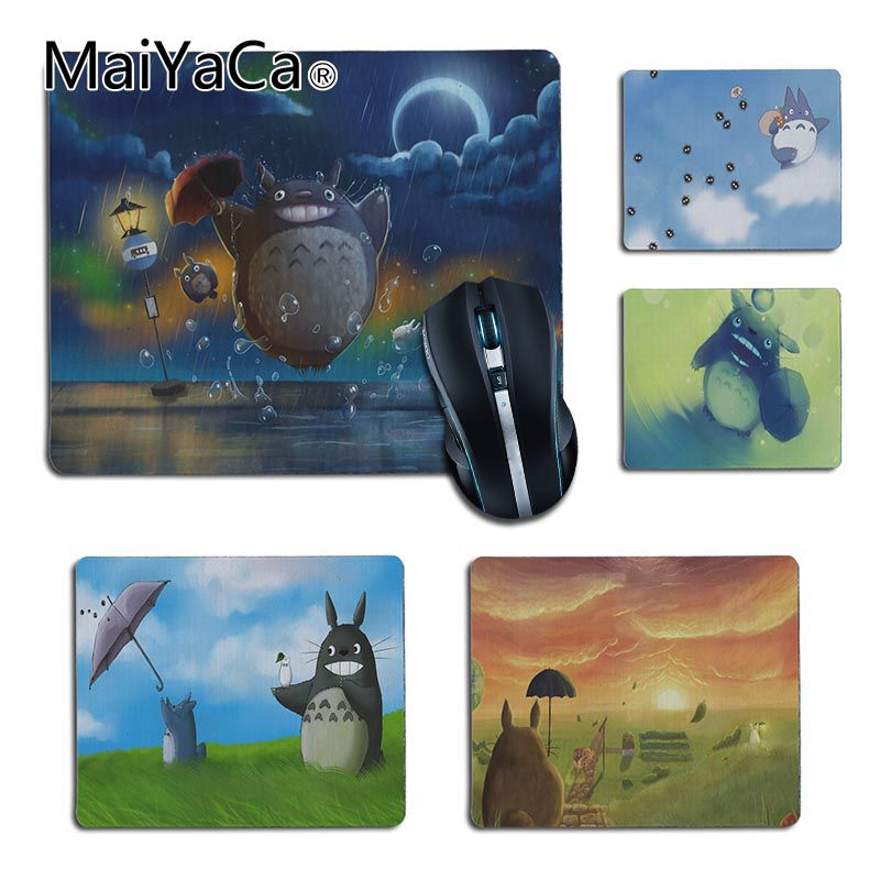 Maiyaca Cute Totoro Anime Umbrellas Office Mice Anime Mouse Mat Durable New Anti-slip Mouse Pad Pc Game Gaming Mouse Pad Muismat A Plastic Case Is Compartmentalized For Safe Storage Computer Peripherals