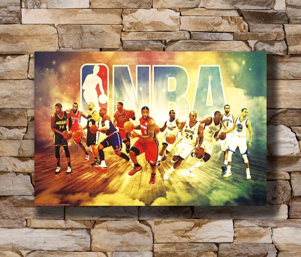 5236 LeBron James Art Miami Heat NBA Sport Wall Sticker Art Poster ...