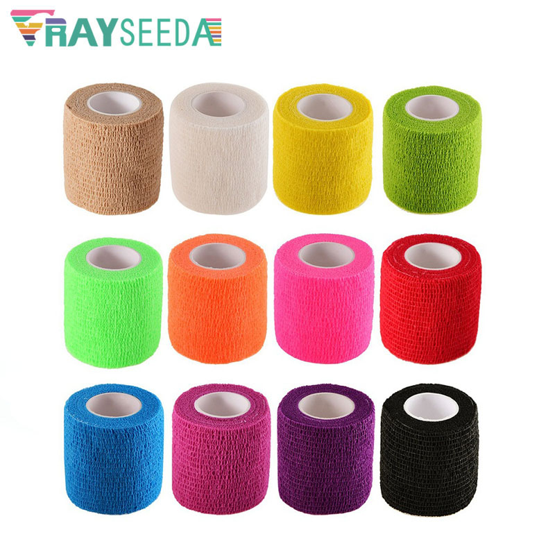 5pcs/Lot 5x450cm Outdoor Colored Self Adhesive Medical First Aid Elastic Bandage Breathable Nonwoven Cohesive Safety Elastoplast