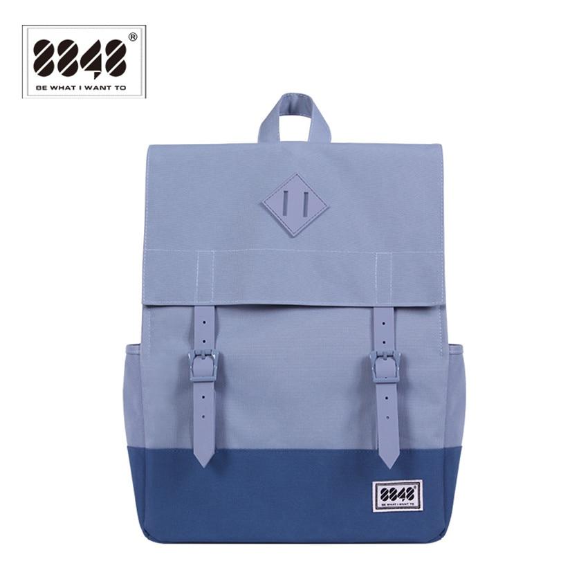 8848 Brand Backpack Backpacking Men Women Shoulder Bag Mønster Solid Laptop Hot Sale Modstandsdygtig Oxford Wight Single 173-002-009