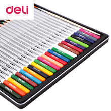 цена на Deli 24 Colors Professional Color Pencil Student Painting Drawing Pencil Set School Stationery Pen Artist Supplies