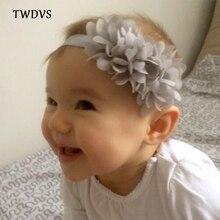 TWDVS Babe Hair Bands Chiffon Flower Headband Elastic hair Accessories Girls Ring Headband Kids Flower Hair Accessories W001