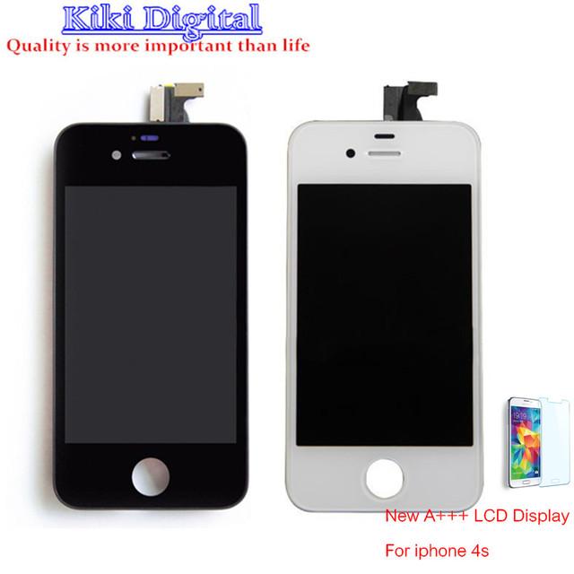 Calidad original para iphone 4s 4 4g pantalla lcd con pantalla táctil digitalizador asamblea envío gratis