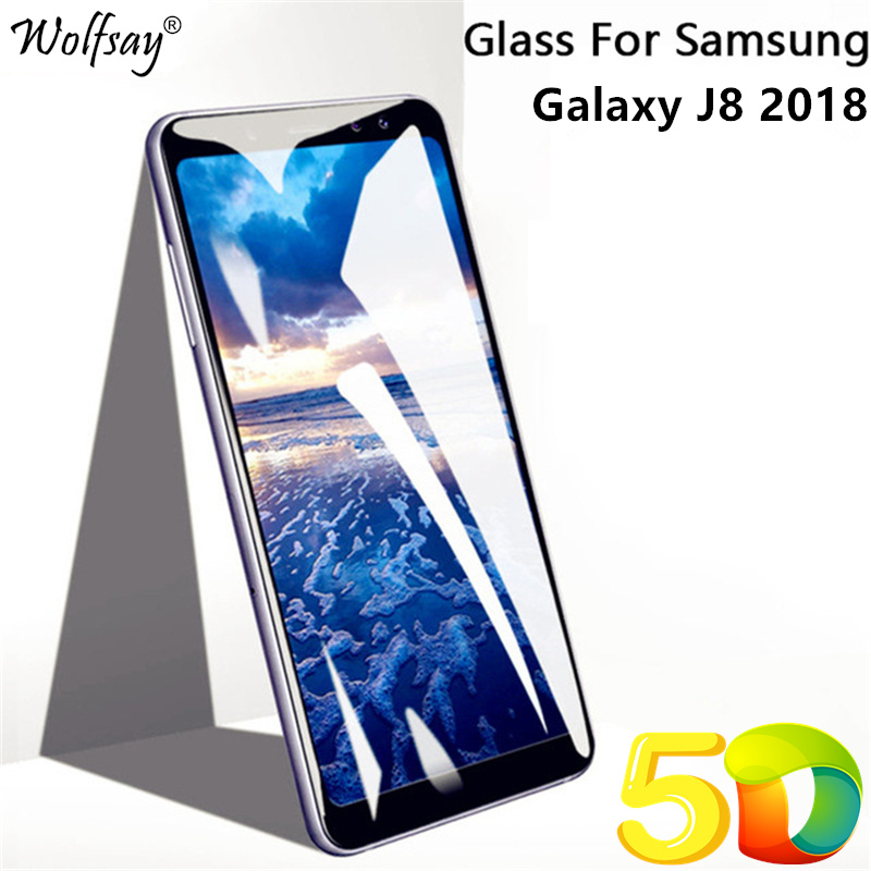 """Full Glue Screen Protector For Samsung Galaxy J8 2018 Glass J810 5D Full Cover Tempered Glass For Samsung Galaxy J8 2018/On8 6"""""""