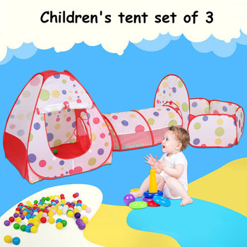 3Pcs/Set Play Tent Baby Kids Play Portable Foldable Pop Up Tunnel Basketball Game Tent Children Outdoor Sports Play Tent gifts foldable pool tube teepee 3pcs pop up play tent toy children playing tunnel kids camping gaming house outdoor sports playhouse