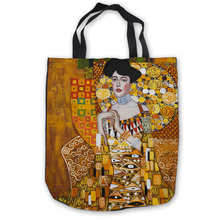 Custom Canvas gustav_klimt_-_ria_munk_ (1) Tote Hand Bags Sh