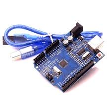 10 Высокое качество UNO R3 CH340 MEGA328P Чип 16 МГц для Arduino UNO R3 макетная плата+ USB кабель прозрачная акриловая коробка