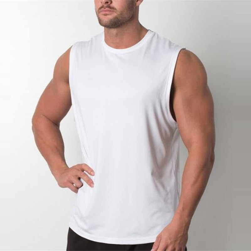 Brand New Plain Tank Top Men Bodybuilding Singlet Gyms Stringer Sleeveless Shirt Blank Fitness Clothing Sportwear Muscle Vest