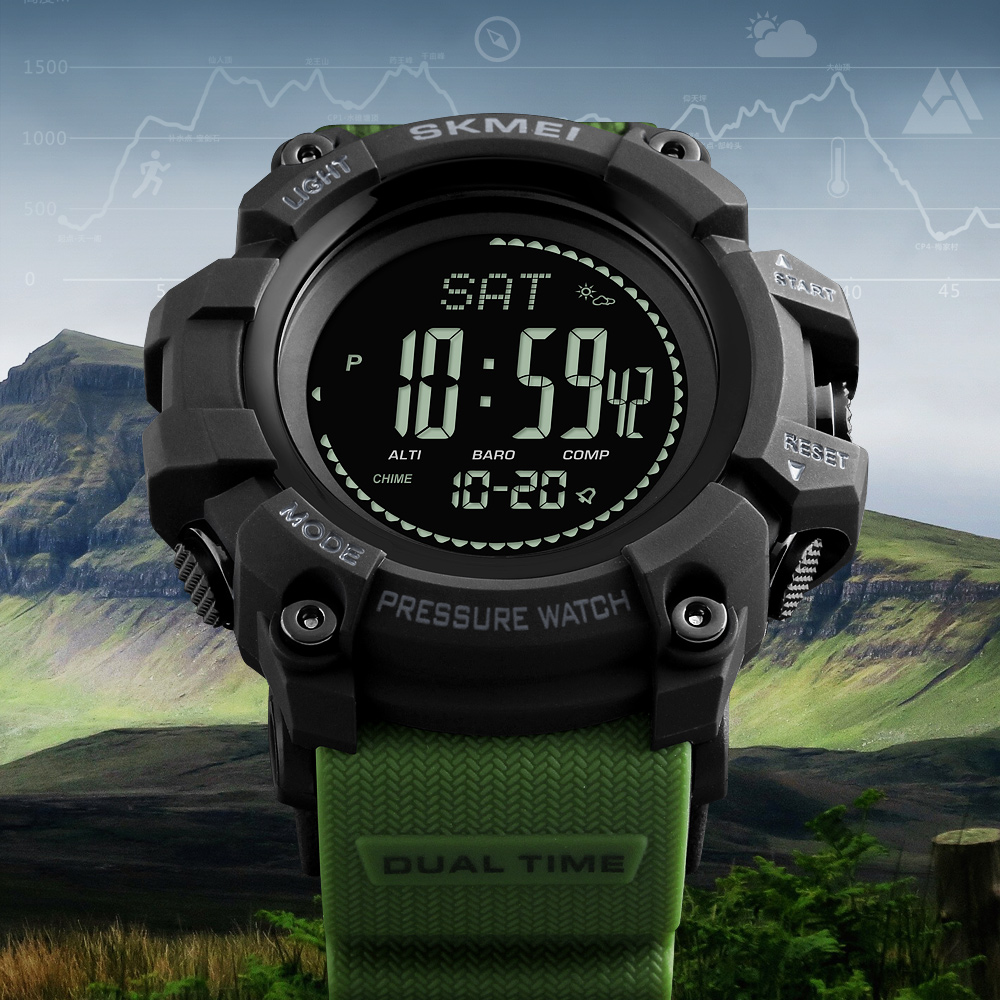 Clock Men Watch Sport Altimeter Pressure Thermomet Weather Pedometer Calories Compass Multifunction LED Digit Wrist Watches Men skmei men watch sport altimeter pressure thermomet weather pedometer calories compass multifunction led digit wrist watches men